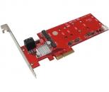 Addonics 4口 Hybrid HDD – M2(NGFF) SSD 混合硬盘RAID卡