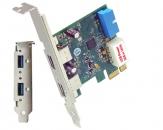 久诚U3-PCIE1XG213 PCI Express x1 2.0转4口USB 3.0转接扩展卡,支持UASP