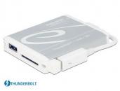 Delock  91723  Thunderbolt雷电转USB3.0与SD UHS-II 读卡器