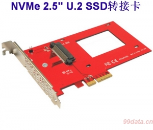 Addonics AD25NVMPX4 NVMe 2.5 U.2 SSD转PCIe ×4 3.0转接卡