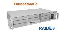 Stardom DR8-TB2 8盘位Thunderbolt 2雷电磁盘阵列柜 RAID5