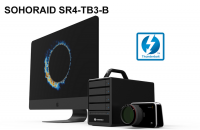 4盘位Stardom SR4-TB3 Thunderbolt 3雷电3阵列柜 硬件RAID5