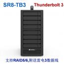 8盘位Stardom SR8-TB3 Thunderbolt 3雷电3磁盘阵列柜 RAID5
