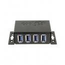 Coolgear CG-U3MINI4PH USB 3.1 4口Mini工业级Hub 支持ESD与电涌保护