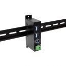 Coolgear USBG-4U3ML  USB 3.0 4口工业级Hub金属封装