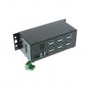 Coolgear  12口USBG-12U3ML USB 3.0 工业级Hub 金属封装,含电源适配器