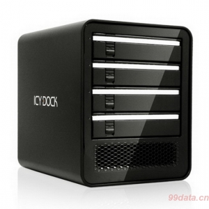 "ICY DOCK MB561U3S-4SB 4盘位2.5""/3.5"" USB 3.0/eSATA外置 JBOD硬盘箱"