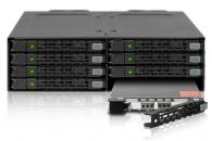 "ICY DOCK MB998SP-B全金属8盘2.5"" SATA硬盘盒占用1个5.25"" 光驱位硬盘模组"