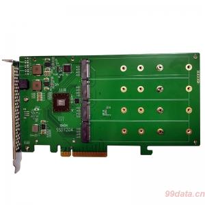 HighPoint火箭SSD7204 M.2 NVMe RAID阵列卡PCIe3.0x8 无风扇