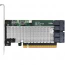 Highpoint火箭SSD7120 U.2 NVMe SSD PCIe3.0x16 RAID阵列卡