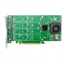 LRNV9547-4I PCIe x16 转4口M.2 NVMe SSD 扩展卡