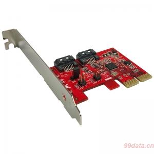 Lycom PE-151FR 2口SATA3 6Gb PCIe阵列卡硬件RAID1/0可做系统盘