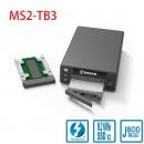 Stardom MS2-TB3 Thunderbolt 3雷电3接口M.2 NVME磁盘阵列盒