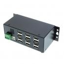 Coolgear USBG-12U2ML 12口USB 2.0工业级金属Hub含电源适配器
