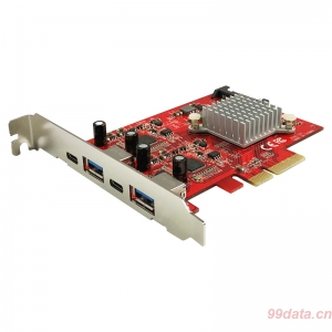 Lycom UB-160 USB3.1 Gen2 10G 2xUSB-C USB-A转接卡