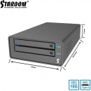 Stardom MR2-B31 USB3.1 Gen2 10Gb 2盘位2.5寸RAID0/1移动磁盘阵列