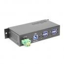 Coolgear 4 Port Managed USB 3.2 Gen 1 Hub w/ 15KV ESD Surge Protection
